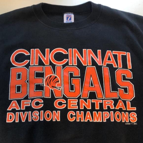 1be867ab Vintage logo 7 Cincinnati Bengals crewneck sweater